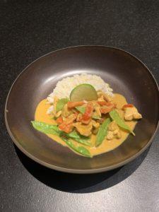 Asia Kokos Curry mit Hühnchen